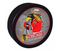 """Шайба хоккейная""""GUFEX""""взрослая NHL Chicago Black Hawks"""