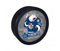 """Шайба хоккейная""""GUFEX""""взрослая NHL Toronto Maple Leafs"""