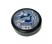 """Шайба хоккейная""""GUFEX""""взрослая NHL Winnipeg Jets"""