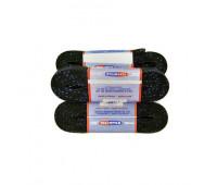 Шнурки для коньков W918-183см с пропиткой черные