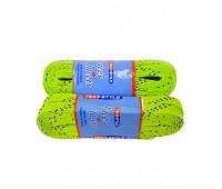 Шнурки для коньков W921-244см с пропиткой лайм