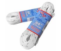 Шнурки для коньков W915-213см с пропиткой белые