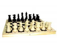 Шахматы пластик. в деревянной коробке арт. 02-105