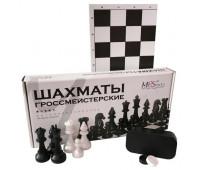 Игра 2 в 1 - Шахматы гроссмейстерские + шашки + доска