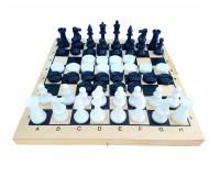 Игра 2 в 1 (шахматы, шашки) доска - дерево, фигуры пластик