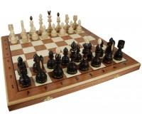 """Шахматы """"Индийские"""" большие с инкрустацией доски деревом"""