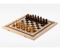 Шахматы нарды шашки Игра 3 в 1 обиходная