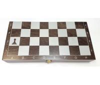Шахматы гроссмейстерские деревянные  (400х200мм) тонированные венге
