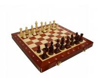 """Шахматы """"Турнирные"""" размер 3 с инкрустацией доски деревом арт. 93"""