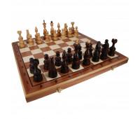 "Шахматы ""Дебют"" с инкрустацией доски деревом арт. 145"