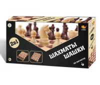 Игра 2 в 1 шахматы и шашки магнитные