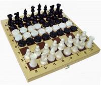 Набор 2 в 1 Шахматы +шашки пласт.с дер.доской арт. 02-119