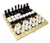 Шахматы + шашки с деревянной доской арт. 02-108