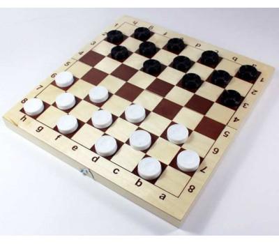 Игра 2 в 1 (шахматы, шашки) доска 29х29- дерево, фигуры пластик