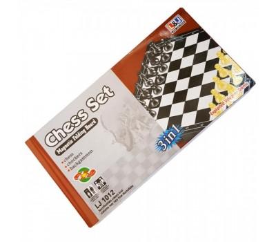 Шахматы нарды шашки Игра 3 в 1 дорожные магнитные( LJ1012 )
