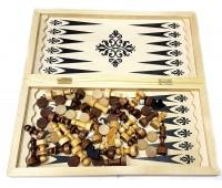 Шахматы нарды шашки Игра 3 в 1 обиходная 400х200