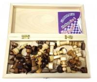 Игра 2 в 1 (шахматы, шашки) доска - дерево, фигуры дерево