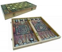 Нарды-шашки подарочные деревянные