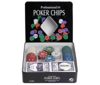 Набор для игры в покер 100 фишек с номиналом