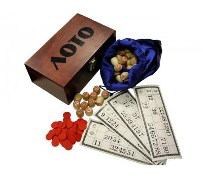 """Игра """"Лото"""" в деревянной коробке ZL07T1070"""