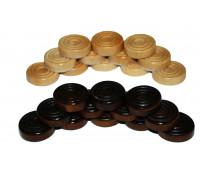 Шашки деревянные (без доски) ZL09T1536