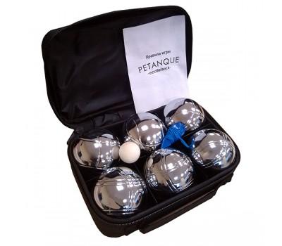 Петанк стальной Бочче, набор из 6 шаров