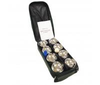 Петанк стальной Бочче, набор из 8 шаров