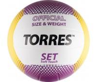 """Мяч волейбол. """"TORRES Set"""" арт.V30045, р.5, синт.кожа"""