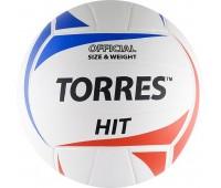 """Мяч волейбол. """"TORRES Hit"""" арт.V30055, р.5, синт.кожа"""