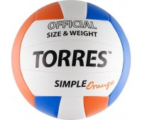 "Мяч волейбол. ""TORRES Simple Orange"" арт.V30125, р.5"