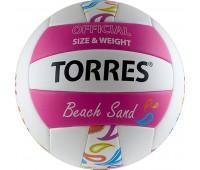"""Мяч волейбольный. """"TORRES Beach Sand Pink"""" арт.V30085B, р.5"""