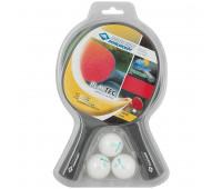 """Набор для настольного тенниса Donic Schidkroet """"Playtec"""" арт.788649, 2 всепогодн.ракетки+3 бел.мяча"""