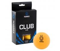 Набор мячей для настольного тенниса TORRES Club 2* оранж
