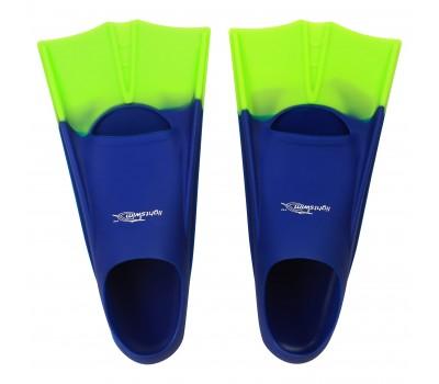 Детские короткие ласты для плавания в бассейне Light-Swim LS 11 (CH) NAVY/GREEN р. 33-35