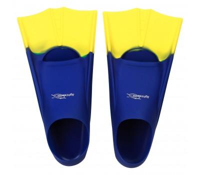 Детские короткие ласты для плавания в бассейне Light-Swim LS 11 (CH) NAVY/YELLOW р. 30-33