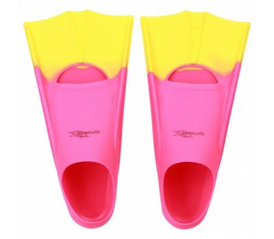 Детские короткие ласты для плавания в бассейне Light-Swim LS 11 (CH) PURPLE/YELLOW р. 28-31