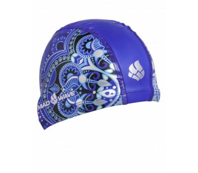 Шапочка для плавания Mad Wave MANDALA Blue