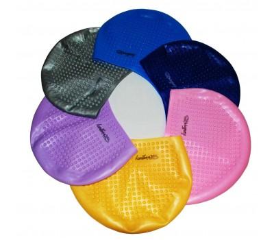 Шапочка для плавания одноцветная женская HW