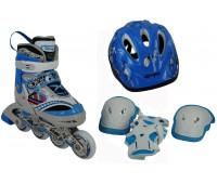 Набор для катания на роликовых коньках BW-127SET-BL Размер 31-34