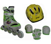 Набор для катания на роликовых коньках BW-127SET-GR Размер 31-34