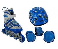 Набор для катания на роликовых коньках BW-908SET-BL Размер 31-34