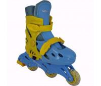 Коньки роликовые раздвижные BW-501BL Размер 31-34 S
