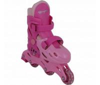 Коньки роликовые раздвижные BW-501PN Размер 31-34 S