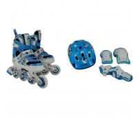 Набор для катания на роликовых коньках BW-906SET-BL Размер 35-38