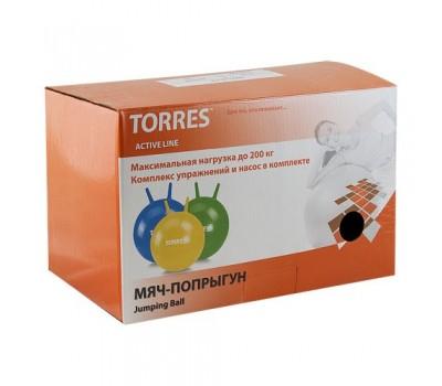 """Мяч-попрыгун """"TORRES"""", арт.AL100465, с ручками, диам. 65 см,"""