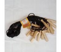Скакалка 2,8 (резина с дер.ручкой)6015