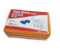 Опорный блок для занятий йогой двухцветный HKYB6011-1