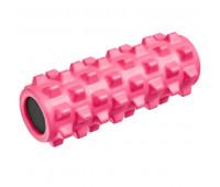 Валик для йоги полнотелый (розовый) 33х12см B33090