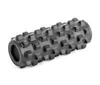 Валик для йоги полнотелый (черный) 33х12см B33092