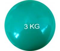 Медбол HKTB9011 - 3 кг d-15см. (зеленый) (ПВХ/песок)